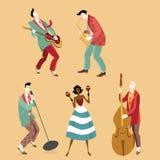 Rocznika zespół rockowy ilustracji
