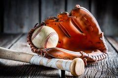 Rocznika zestaw bawić się baseballa Obraz Royalty Free