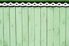 Rocznika zielony drewniany tło Obraz Stock