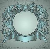 Rocznika zielony emblemat Obrazy Stock