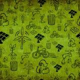 Rocznika Zielony energii wzór Zdjęcie Stock