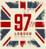 Rocznika Zjednoczone Królestwo flaga ilustracja wektor