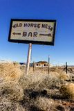 Rocznika znak na starym Route 66 w Nowym - Mexico obrazy stock