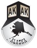Rocznika znak uliczny dla Alaska ilustracja wektor