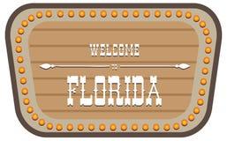 Rocznika znak uliczny Floryda Obraz Stock