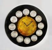 Rocznika zodiaka Zegarowych znaków Kalendarzowy zegar Zdjęcie Stock
