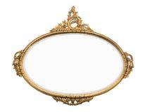 Rocznika złota lustro Zdjęcia Royalty Free