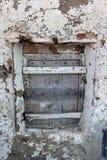 Roczniki łamający okno fotografia stock