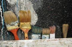 roczniki barwiący muśnięcia obraz stock