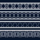 Roczników bezszwowi dekoracyjni wzory w postaci pasków Zdjęcie Stock