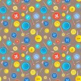 Roczników guziki szą bezszwowego wzór Zdjęcie Royalty Free