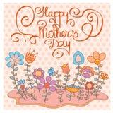 Roczników Mothers dnia Szczęśliwy tło Zdjęcie Royalty Free