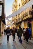 Roczny średniowieczny rynek w Orihuela Hiszpania Atmosfera, środek fotografia stock