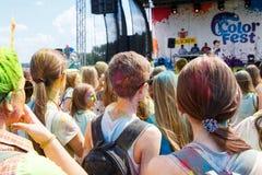 Roczny festiwal kolory ColorFest Obrazy Stock