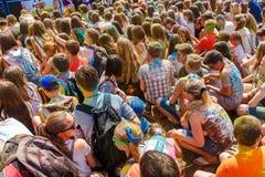 Roczny festiwal kolory ColorFest Fotografia Stock