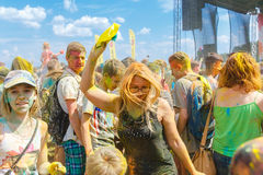Roczny festiwal kolory ColorFest Obraz Stock
