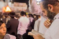 Roczny hillula rabinu Shimon bar Yochai w Meron 2018, Zdjęcie Royalty Free