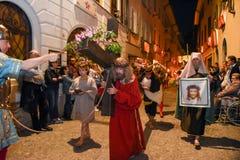 Roczny korowód krzyżowanie jezus chrystus przy Easter Zdjęcie Stock