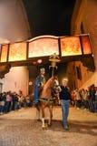 Roczny korowód krzyżowanie jezus chrystus przy Easter Obrazy Royalty Free
