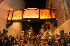 Roczny korowód krzyżowanie jezus chrystus przy Easter Zdjęcia Stock