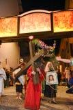 Roczny korowód krzyżowanie jezus chrystus przy Easter Obraz Stock