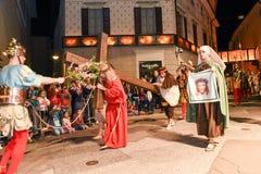 Roczny korowód krzyżowanie jezus chrystus przy Easter Zdjęcia Royalty Free