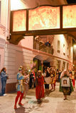 Roczny korowód krzyżowanie jezus chrystus przy Easter Fotografia Royalty Free