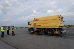 Roczny przegląd lotniskowy wyposażenie w Pulkovo, St Petersburg, Rosja obraz royalty free