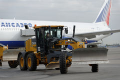 Roczny przegląd lotniskowy wyposażenie w Pulkovo, St Petersburg, Rosja obrazy royalty free