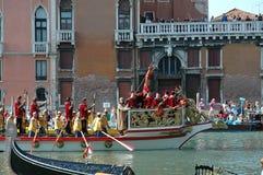 Roczny Regatta puszek kanał grande w Wenecja Włochy Zdjęcia Royalty Free