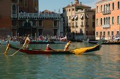 Roczny Regatta puszek kanał grande w Wenecja Włochy Fotografia Stock