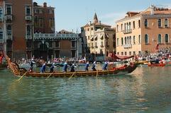 Roczny Regatta puszek kanał grande w Wenecja Włochy Obrazy Stock