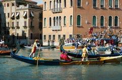 Roczny Regatta puszek kanał grande w Wenecja Włochy Obraz Royalty Free