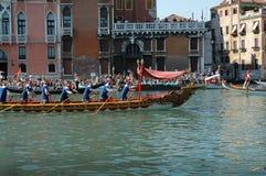 Roczny Regatta puszek kanał grande w Wenecja Włochy Zdjęcia Stock