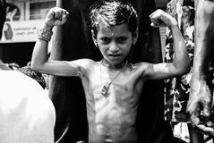 Roczny rydwanu festiwal Raathyatra, Ahmedabad, India Obraz Stock