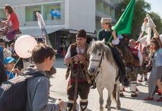Roczny wiosna karnawał w Varna, Bułgaria Obraz Stock