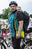 Roczny wiosny miasta kolarstwa wakacje i kolarstwo przez ulic miasto Obraz Stock