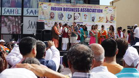 2015 rocznych India dnia parad w Edison, Nowym - bydło Zdjęcia Stock