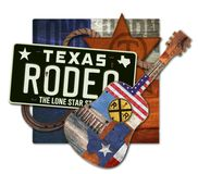 Rodéo Art Texas Steer Photo stock