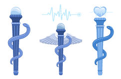 Rod of Asclepius and Caduceus - medical symbol Royalty Free Stock Photography