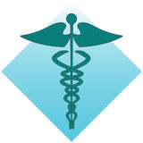 Rod of Asclepius. An illustration of the Rod of Asclepius Stock Photography