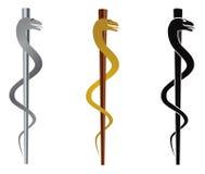 Rod of Asclepius Illustration. Rod of Asclepius Medical Symbol Isolated on White Background Illustration Stock Photos