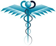 Stylized Rod of Asclepius isolated. Image represneting the rod of Asclepius with a modern concept Stock Photo