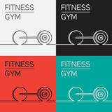 Rod, barbell  icon Royalty Free Stock Photography