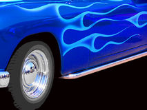 Rod caldo blu fotografia stock libera da diritti