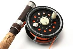 Rod e bobina Flyfishing Immagine Stock Libera da Diritti