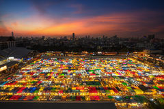 Rod Fai night market Ratchada Stock Images