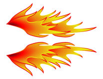 Rod Flames caldo Immagine Stock