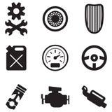 Rod Icons caldo Immagine Stock