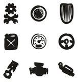 Rod Icons Freehand Fill caliente Fotografía de archivo libre de regalías